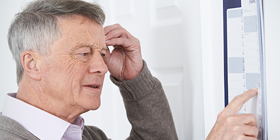 Memory loss in the form of dementia